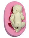 1 Pcs DIY / Sleeping baby Shape / kaka Utsmyckning / bakning Tool / 3D Tårta / Kaka / Choklad / Cupcake Silikon Bakning & Bakelsetillbehör