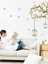 Removable Environmental Flower Rattan And Birdcage Shaped Wall Sticker
