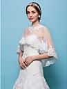 Wedding  Wraps Capelets Tulle White/Beige