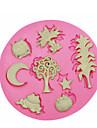 söta djur växt silikonform kaka Utsmyckning silikonform för fondant godis hantverk smycken pmc harts lera
