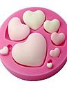 fondant formă de inimă mucegai silicon, ambarcațiunile de mucegai, mucegai decorative tort