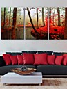 e-Home® skogen klockan i canvas 3st
