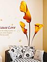 miljö avtagbar calla lily mönster pvc väggklistermärke
