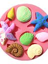 havs sjöstjärnor snigel snäcka fondant tårta formar choklad mögel för köket bakar för socker godis