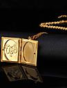 Dame Coliere cu Pandativ Medalioane Coliere Articole de ceramică Placat Auriu 18K de aur La modă Bijuterii Nuntă 1 buc