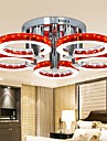90W Modern LED Red Acrylic Chandelier with 5 lights (Chrome Finish)