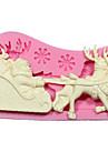 silikon mögel diy 3d jul jultomten ren med släde sockerglasyr kaka Utsmyckning verktyg choklad mögel sm-242