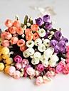 """8,7 """"l ensemble de 1 mini 15 tetes automne fleurs rose en tissu de soie"""