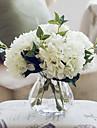 california fem vita hortensior konstgjorda blommor med vas