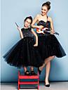 Heimkehr Abendkleid - schwarz Ballkleid Schatz knielangen Tuell