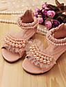 Sandaalit - Nahka - Vaaleanpunainen/Beesi - Avokärkiset/Comfort