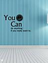 stickers muraux stickers muraux, mots anglais&cite muraux PVC autocollants