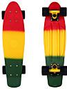 blekna plast skateboard 22 tums mini cruiser röd gul grön med ABEC-11 lager
