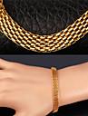 topgold plaque or nouveau chunky lien popcorn chaine 18k bracelet en acier inoxydable 316L pour les hommes des femmes de haute qualite
