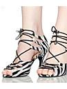 Chaussures de danse(Blanc) -Non Personnalisables-Talon Aiguille-Flocage-Salsa