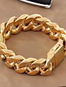 Pentru femei Bărbați Pentru cupluri Brățări cu Lanț & Legături Clasic bijuterii de lux Auriu Oțel titan Placat Auriu Bijuterii Bijuterii