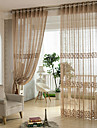 Country Curtains® Two Panels Jacquard Floral Sheer Curtains Drapes