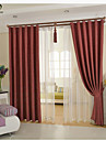 Country Curtains® One Panel Red Solid Linen Cotton Blend Panel Curtain