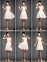 Mix & Match Dresses Knee-length Chiffon 6 Styles Bridesmaid Dresses (2839950)