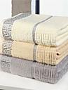 Badhandduk Beige Grå Ljusbrunt Hög kvalitet 100% Bomull Handduk