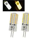 6W G4 LED-spotlights 64LED SMD 3014 450-600 lm Varmvit / Kallvit AC 220-240 V 1 st