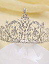 Dame Rhinestone / Legering Headpiece-Bryllup Diademer Soelv