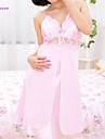 Babydoll/underklänning/Linne/klänning/Underklädesplagg i spets/Nattrock/Satäng och siden/Ultrasexig Natt Dam Spets/Polyester/Satäng/Siden