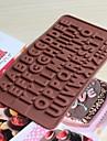 bakeware silikon engelska alfabetet bakformar för choklad (slumpmässiga färger)