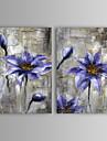 HANDMÅLAD Abstrakt / Blommig/Botanisk Två paneler Kanvas Hang målad oljemålning For Hem-dekoration