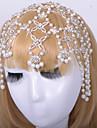 Femme Alliage Casque-Mariage / Occasion speciale Chaine pour Cheveux 1 Piece Argent / Ivoire Rond
