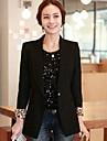 ocazional cu maneca lunga blazer regulat mediu pentru femei (poliester)