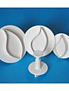 Four-C kronblad fondant kaka Utsmyckning kolv fräsar, tårta fondant dekoration verktyg