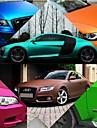 152 * 30cm polymer pvc matt krom vinyl bil wraps klistermärke färgskiftande bil klistermärke med luftbubbla biltillbehör