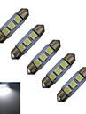Festoon Inredningsglödlampa 3 SMD 5050 60lm lm Kallvit DC 12 V 5 st
