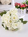 Bouquet sposa Tondo Rose Peonie Bouquet Matrimonio Partito / sera Raso Seta 20 cm ca.