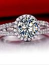 Verighete Plastic Ștras imitație de diamant La modă Argintiu Bijuterii Nuntă 1 buc
