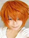 fashion color karikatura barevné paruky maškarní vyhrazený krátký kouře oranžová paruka