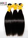 """4 st lot 8 """"-28"""" malaysiska raka virgin hår väva buntar naturliga svart trasselfria mjuka mänskliga hårförlängningar wefts"""