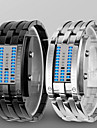 Bărbați pentru Doamne Unisex Ceas de Mână Ceas digital Piloane de Menținut Carnea LED Rezistent la Apă Aliaj Bandă Luxos Negru Argint
