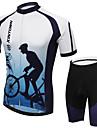 Cykeltröja med shorts Herr Kort ärm CykelAndningsfunktion / Snabb tork / Fuktgenomtränglighet / Reflexremsa / Back Pocket /