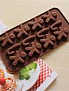 bakeware silikon pepparkaka man och kryckor bakformar för choklad cm-58