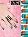14pcs pro-environnement art complete des ongles autocollants