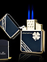 Personlig Gift - Svart - Metall - Boutique - Double Flame - Butantändare