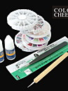 10ST Nail Art Dekorationer Nail Art Kit