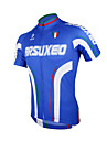 Arsuxeo® Maillot de Cyclisme Homme Manches courtes Velo Respirable / Sechage rapide / Design Anatomique / Zip frontal Maillot / Hauts/Tops