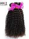 """3 st lot 12 """"-30"""" obearbetade peruanska kinky lockigt jungfru hårwefts naturligt svart 1b # rå remy människohår väva buntar"""