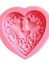 hjärta fågel kärlek kakformar choklad mögel för köket baka lera mögel sugarcraft dekoration verktyg