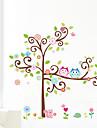 uggla väggdekaler färgglada träd vägg konst zooyoo1001 tecknade väggdekal diy djur vägg klistermärken för barnrum