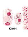 Autocollant d\'art de clou Autocollants 3D pour ongles Bande dessinee Maquillage cosmetique Nail Art Design