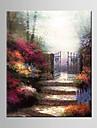 Peint a la main Paysage / A fleurs/BotaniqueModern / Style europeen Un Panneau Toile Peinture a l\'huile Hang-peint For Decoration